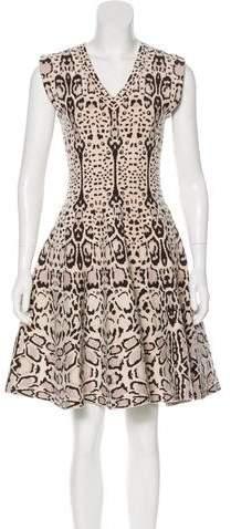 Alaia Jacquard Fit and Flare Dress