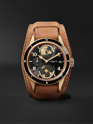 Montblanc 1858 Geosphere Limited Edition Automatic 42mm Bronze And Leather Watch, Ref. No. 117840