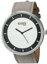 Steve Madden Men's Quartz Stainless Steel and Leather Dress Watch