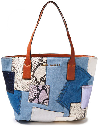 Marc Jacobs Patchwork Denim And Leather Tote