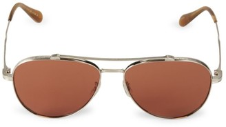 Oliver Peoples Rikson 56MM Aviator Sunglasses