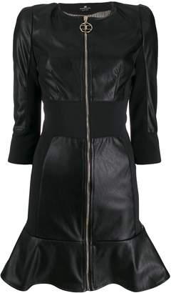 Elisabetta Franchi faux-leather zip-up dress