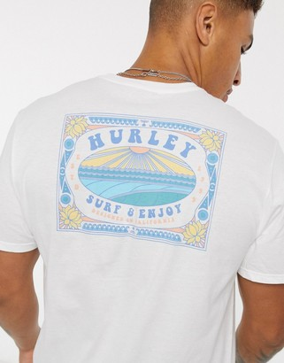 Hurley Surf And Enjoy t-shirt in white