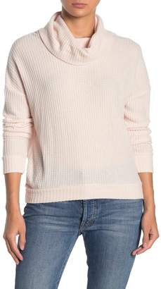 Socialite Waffle Knit Funnel Neck Pullover