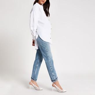 River Island Womens Blue Mom overbump maternity jeans