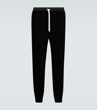 Gucci Relaxed-fit velour trackpants