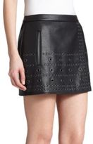 BCBGMAXAZRIA Remi Grommeted Mini Skirt