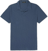 Theory Willem Slim-Fit Slub Cotton-Jersey Polo Shirt