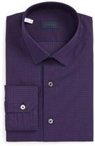 Lanvin Men's Trim Fit Check Dress Shirt