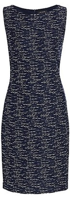 St. John Tweed Knit Sheath Dress