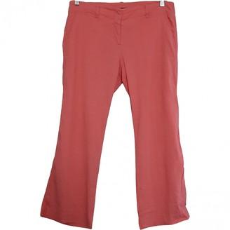 Theory Orange Linen Trousers