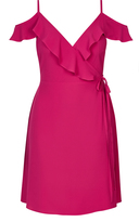 City Chic Coloured Lulu Wrap Dress