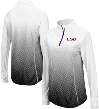 Colosseum Women's Black LSU Tigers Magic Ombre Quarter-Zip Raglan Jacket