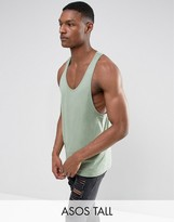 Asos TALL Tank With Extreme Racer Back In Green