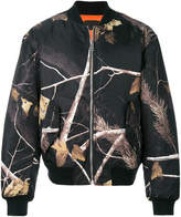 Alexander Wang branch print bomber jacket