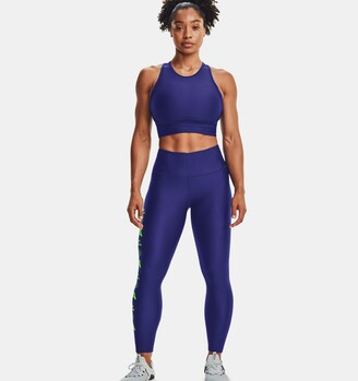 Under Armour Women's HeatGear Armour No-Slip Waistband Graphic Ankle Leggings