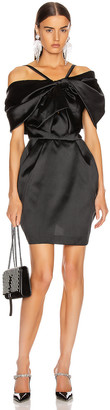 ZUHAIR MURAD Bow Mini Dress in Black | FWRD