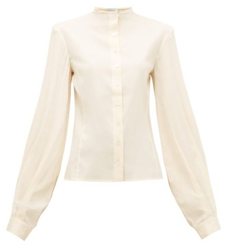 Lemaire Balloon-sleeve Silk-blend Shirt - Womens - Cream