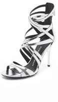 Balmain Pierre Manila Metallic Sandals