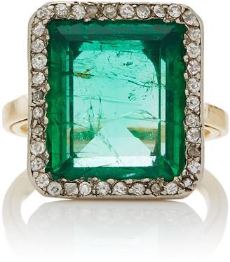 Simon Teakle Belle Apoque Rectangular-Cut Emerald Ring