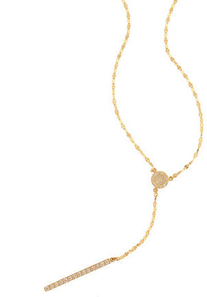 Lana Mirage 14k Diamond Y Necklace