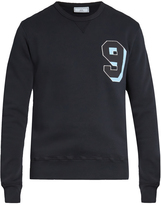 Ami Chest-appliqué cotton-jersey sweatshirt