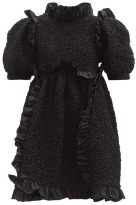 Cecilie Bahnsen Lotta Ruffled Cotton-blend Mini Dress - Black