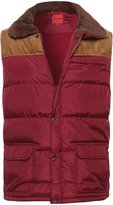 Style by William Men's Contrast Faux Suede Vest Burgundy M