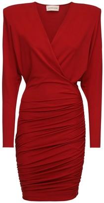 Alexandre Vauthier Draped Stretch Jersey Dress
