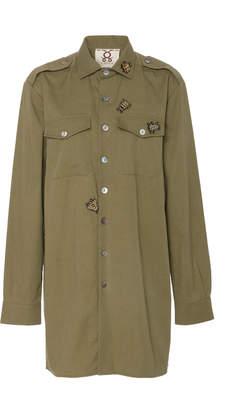 Figue Military Cotton Shirt Dress