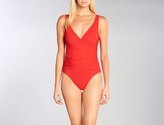 Karla Colletto Basic Surplice Underwire Tank