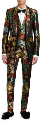 Dolce & Gabbana Men's Multi-Floral Jacquard Three-Piece Evening Suit