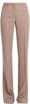 Miu Miu Checked wool high-waisted trousers