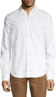 Scotch & Soda Printed Spread Collar Shirt