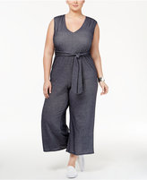 Love Squared Trendy Plus Size Belted Jumpsuit