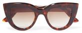 Ellery Quixote Cat-Eye Tortoiseshell Acetate Sunglasses