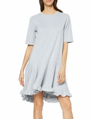 Lost Ink Women's T Shirt Dress with Ruffle Hem