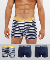 Jack and Jones Trunks 3 Pack With Stripe