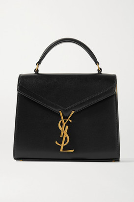 Saint Laurent Cassandra Mini Leather Tote - Black