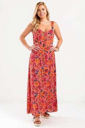 francesca's Julissa Tie Back Maxi Dress - Coral