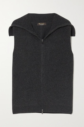 Loro Piana Ribbed Cashmere Vest - Dark gray
