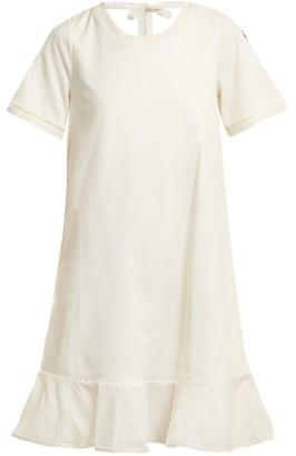 Moncler Round-neck Cotton-jersey Dress - White