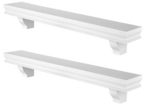 "Danya B 24"" Floating Wall Decor Display Ledge Shelves - Set of 2"