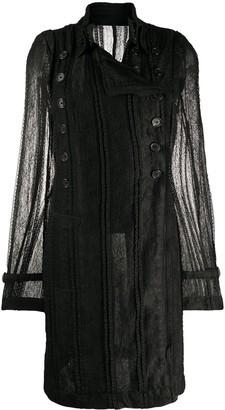Ann Demeulemeester Lace-Pattern Buttoned Coat