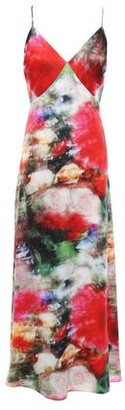 ADAM by Adam Lippes Open-back Floral-print Hammered-silk Midi Slip Dress