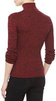 Michael Kors Marled Cashmere Long-Sleeve Turtleneck, Crimson