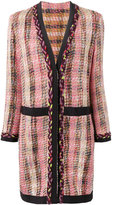 Etro checked coat - women - Cotton/Acrylic/Polyamide/Wool - 42