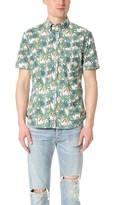 Gitman Brothers Short Sleeve AM Palm Shirt