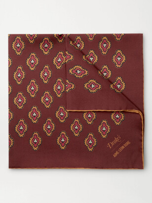 Aimé Leon Dore + Drake's Printed Silk-Twill Pocket Square
