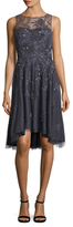 Aidan Mattox Floral Embellished High Low Dress
